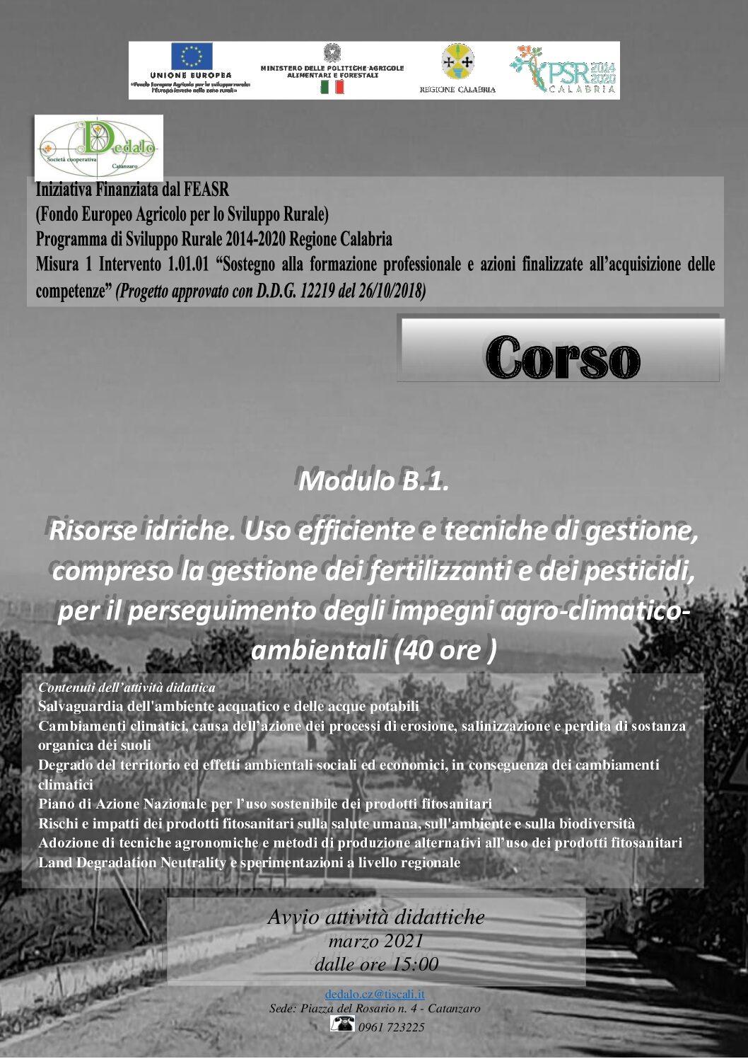 Corso Risorse idriche. (40 ore)